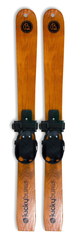 "Kid's Wooden Skis, 35"""