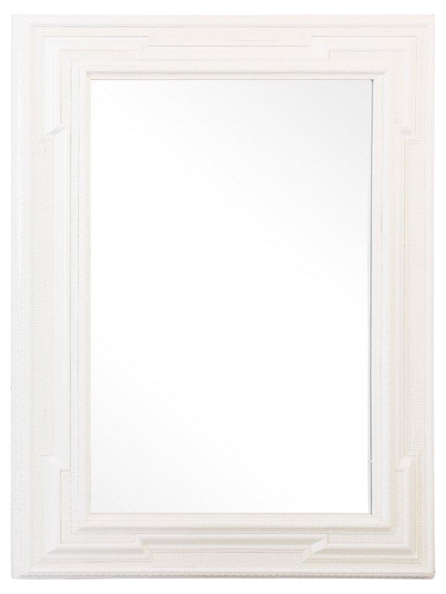 Large Dutch-Style Mirror, White