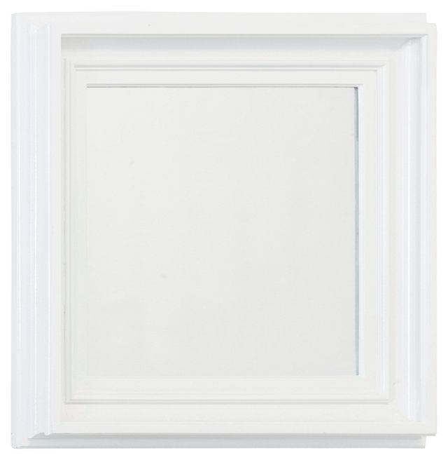 Simple Gesso Square Steeped Mirror