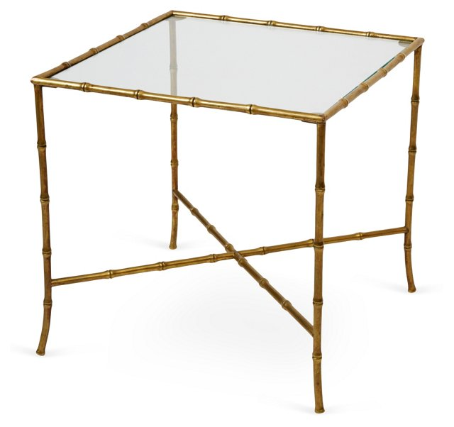 Baguès Bamboo-Style Brass Table II