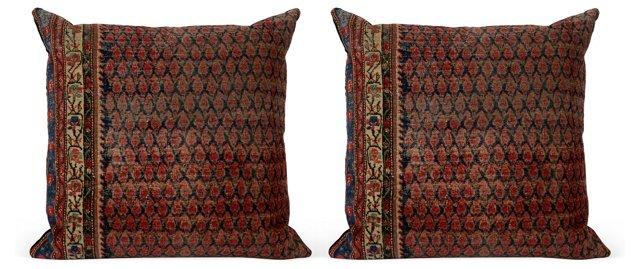 Vintage Floor Pillows, Pair