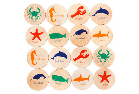 MatchStacks Memory Game, Sea Things