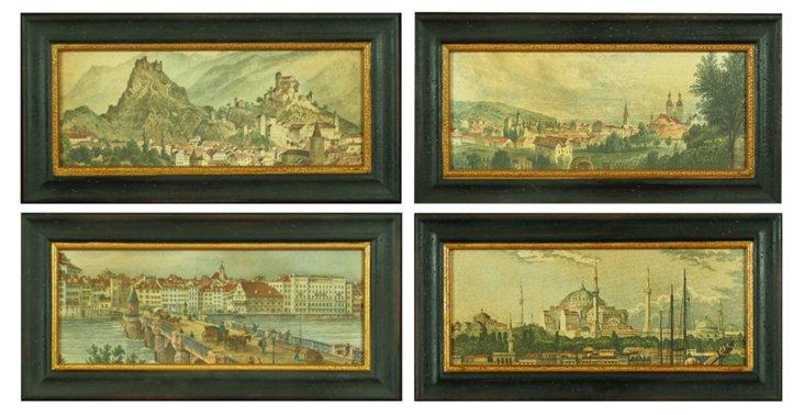 European Landscapes, Set of 4