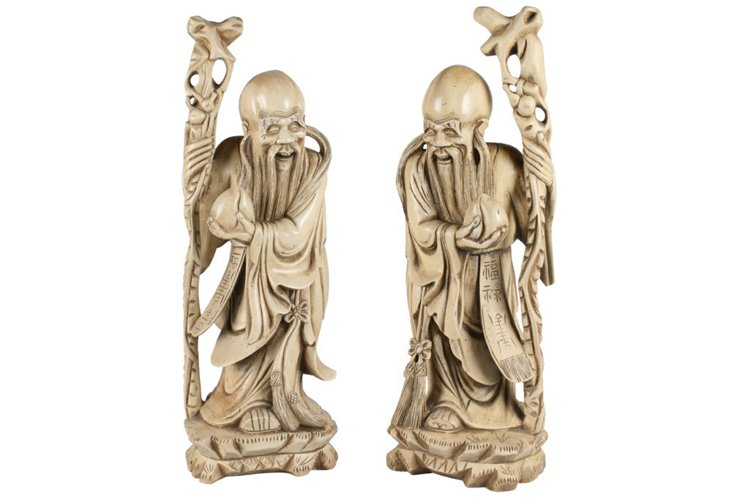 Chinese Figures, Pair