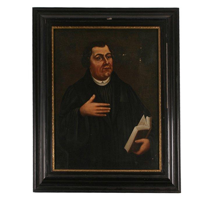 19th-C. Oil Portrait