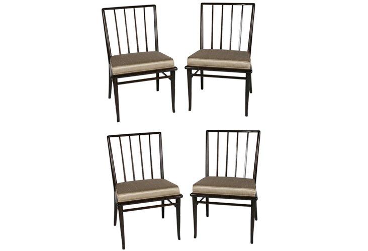 T.H. Robsjohn-Gibbings Chairs, Set of 4