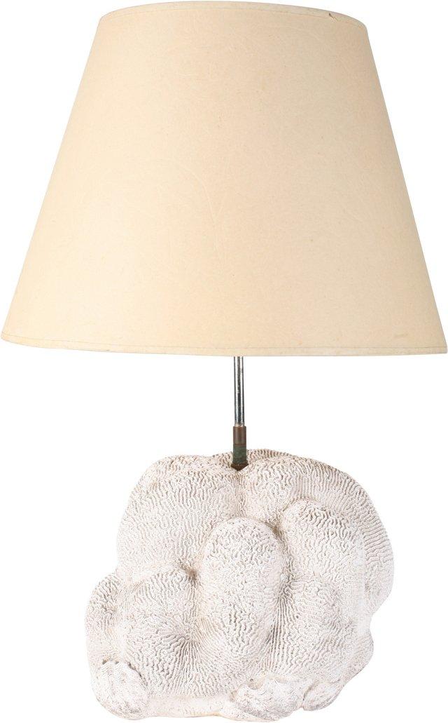 Plaster Brain-Coral Table Lamp