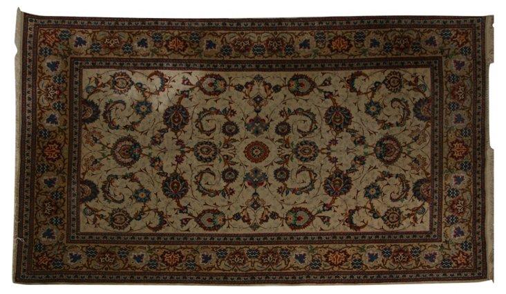 "Vintage Silk Persian Rug, 85"" x 54"""