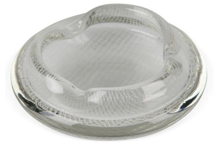 White Mesh Murano Bowl