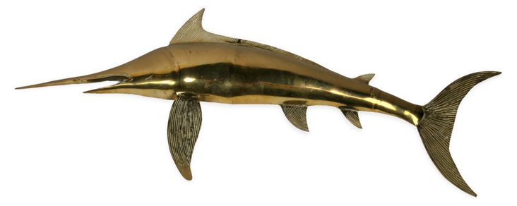 Brass Swordfish Wall Accent