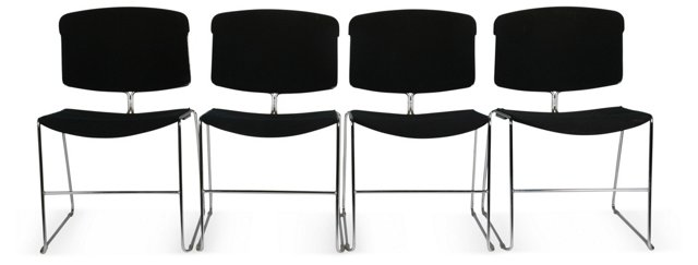 Stackable Chairs, Set of 4
