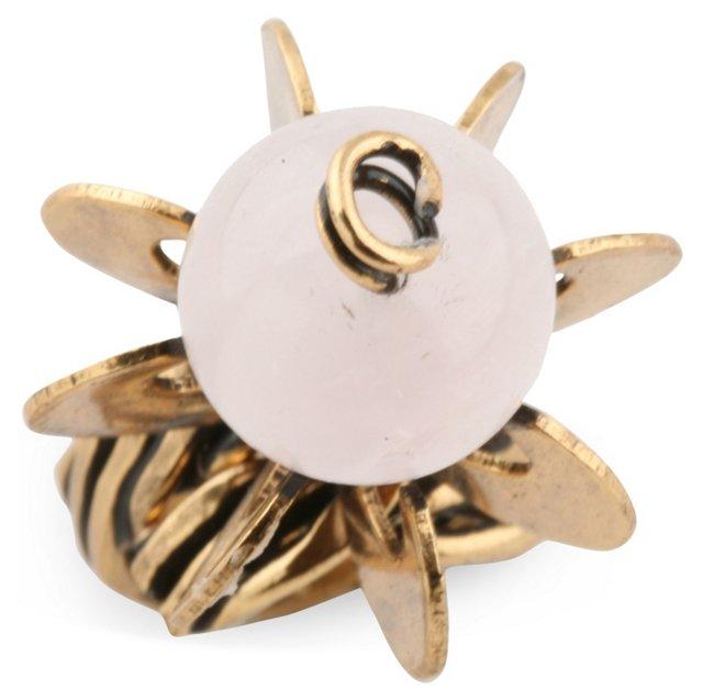 Pink Quartz Sculptural Ring