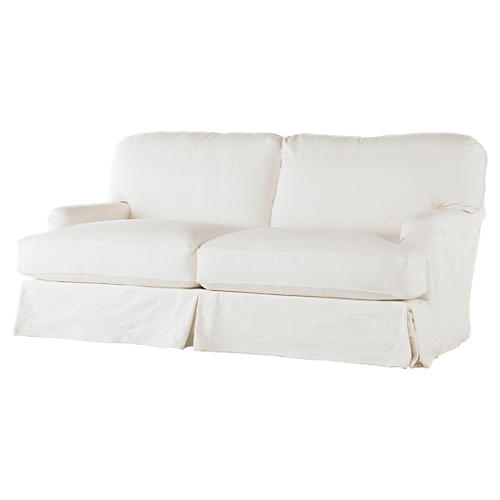 Dover Slipcovered Sofa, White