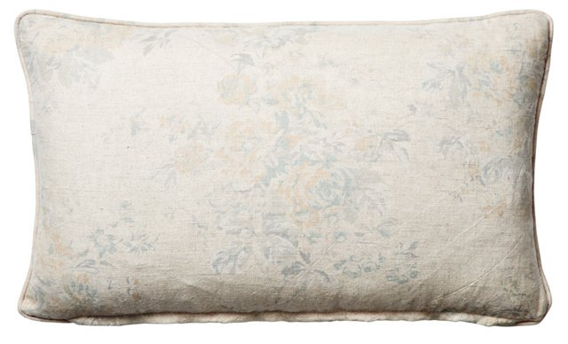 Rose Chintz 12x20 Pillow, Natural