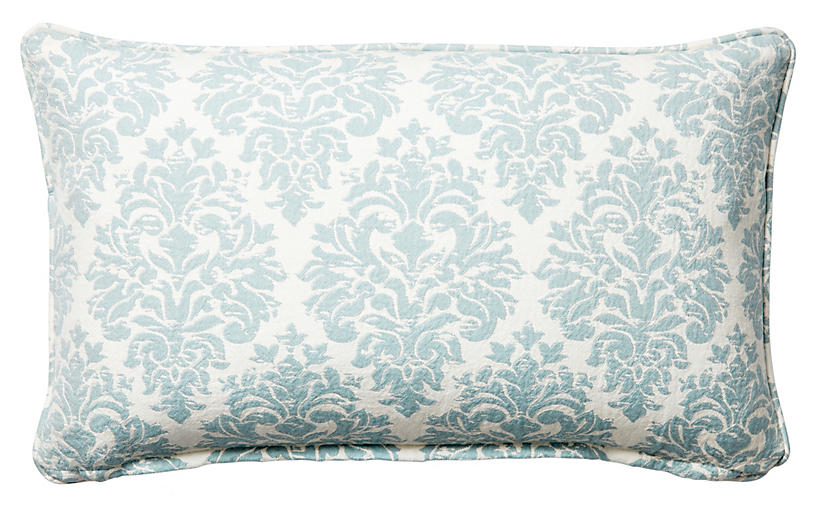 Capistrano 12x20 Cotton Pillow, Blue