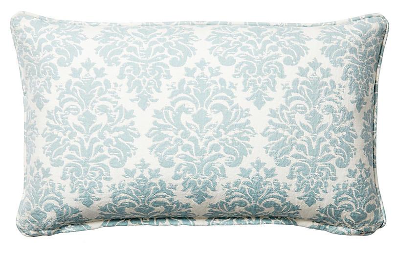 Capistrano 12x20 Cotton Pillow, Blue