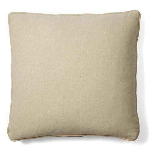 Allure 18x18 Cotton Pillow, Natural