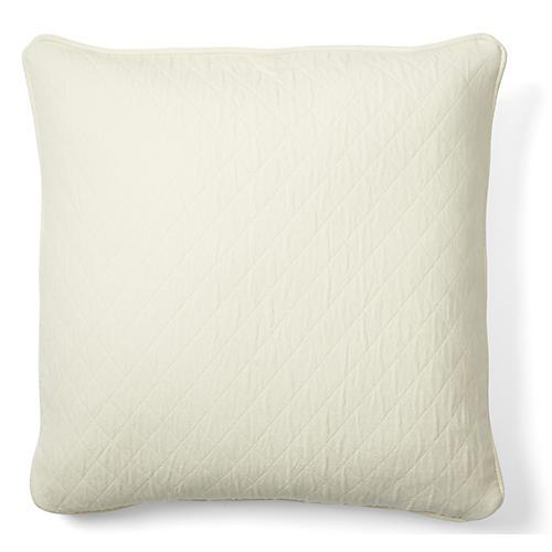 Caymus 18x18 Cotton Pillow, White