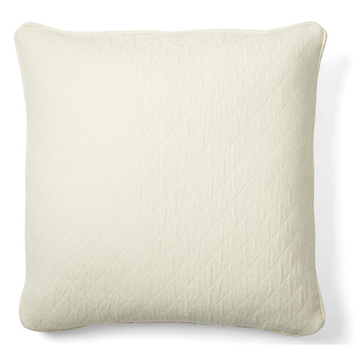 Caymus 18x18 Cotton Pillow, White