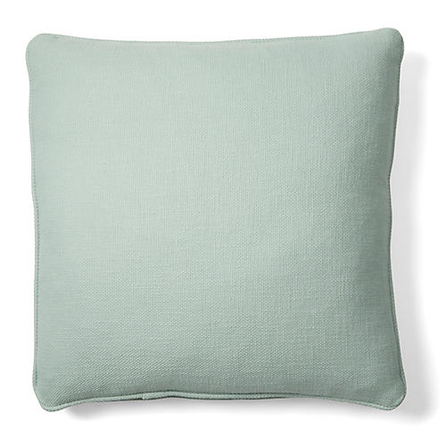 Charleston 18x18 Cotton Pillow, Green