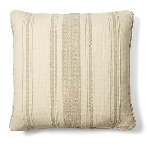 Sawyer 18x18 Cotton Pillow, Natural