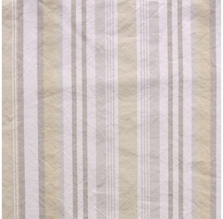 Striped Cotton Fabric, Multi