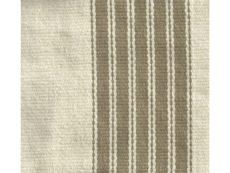 Striped Cotton Fabric, Taupe