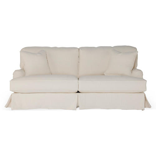 Dover Slipcovered Sofa, Natural