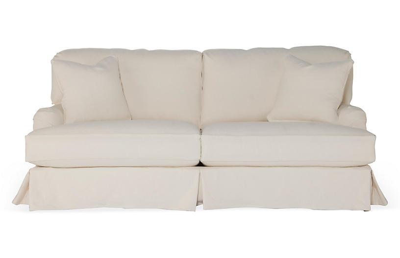 Dover Slipcovered Sofa, Natural