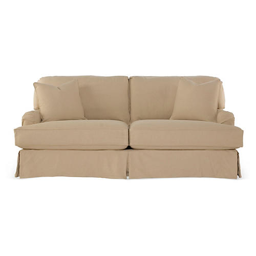Dover Slipcovered Sofa, Sand