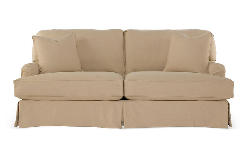 Dover Slipcovered Sofa, Sand