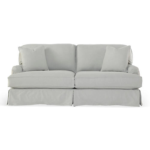 Dover Slipcovered Sofa, Slate