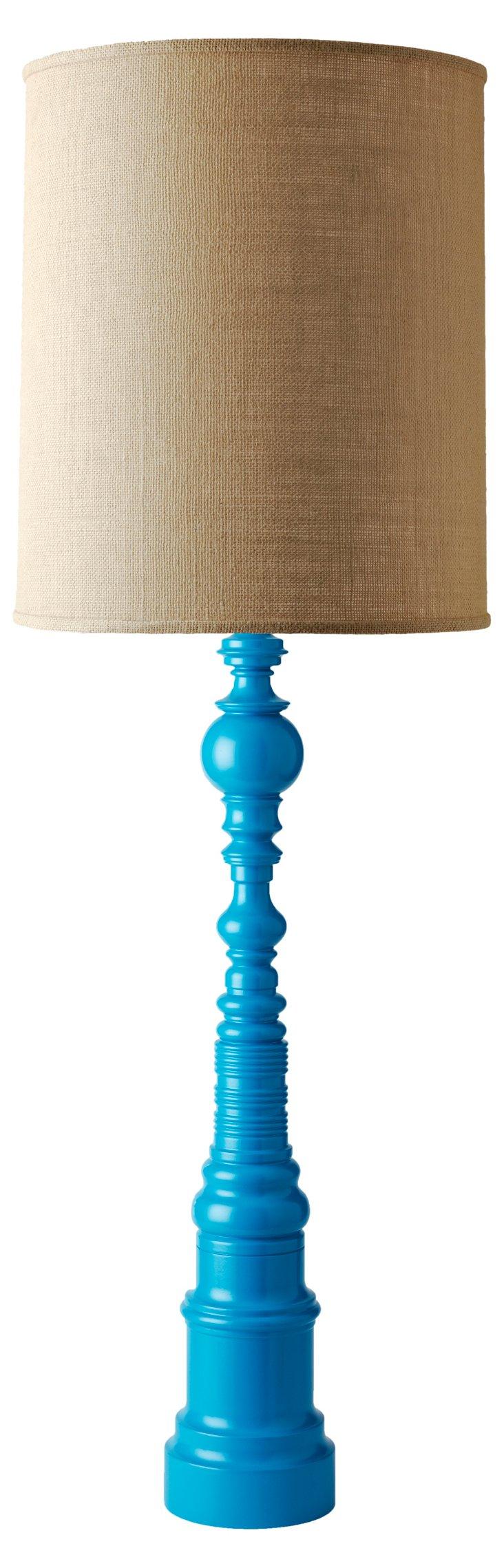 Single Spindle Lamp, Cap Ferrat Bleu