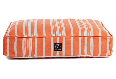 Large Orange Classic Stripe Bed