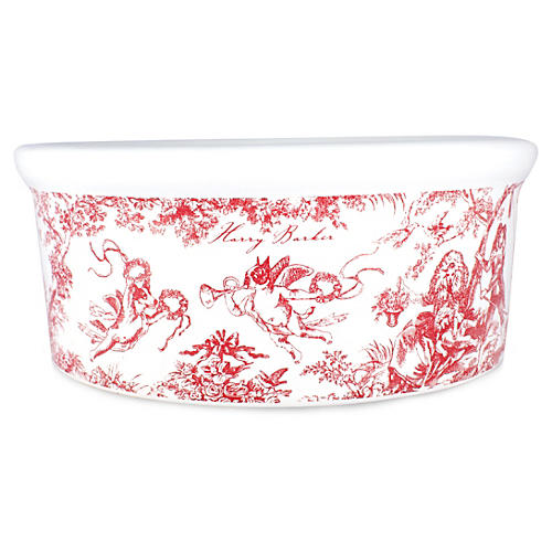 Small Red Toile Bowl