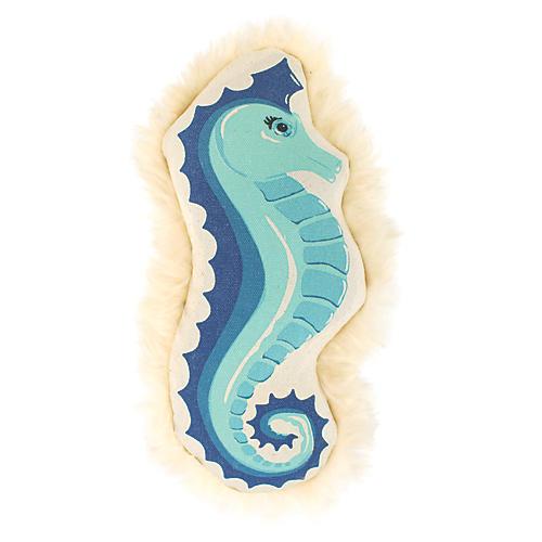 Coastal Seahorse Dog Toy, Blue