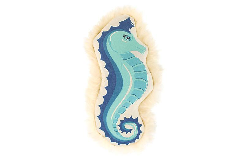 Coastal Seahorse Dog Toy - Blue