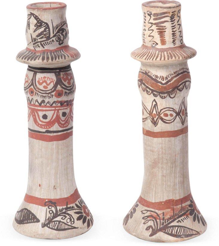 Tonala Candlesticks, Pair I