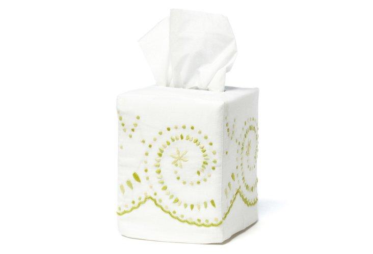 Vera Tissue Box Cover, Lime