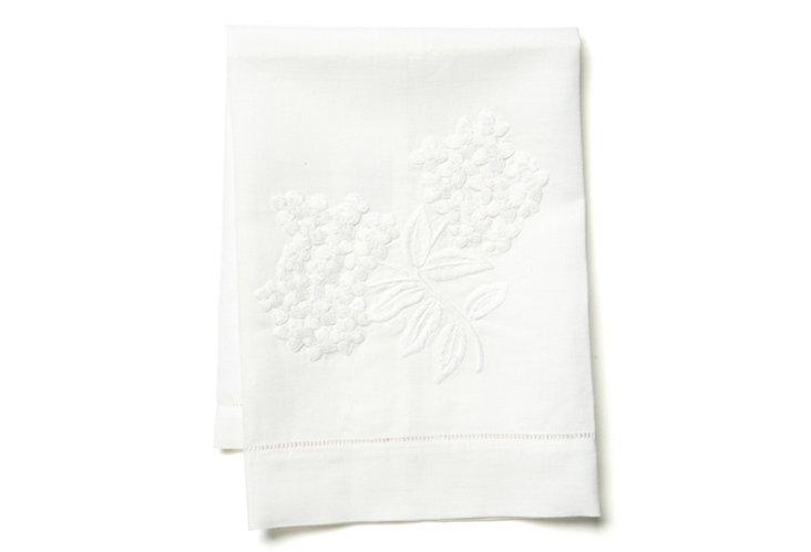 Hydrangea Tip Towel, White