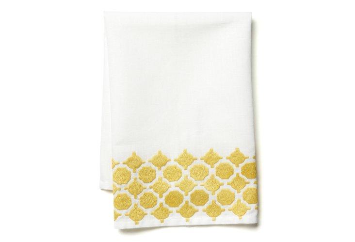 Geo Tip Towel, Yellow