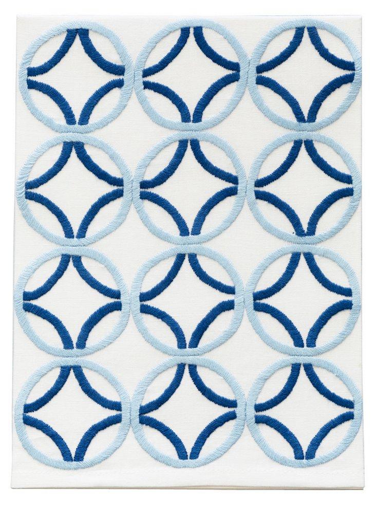 Circles Tip Towel, Blue