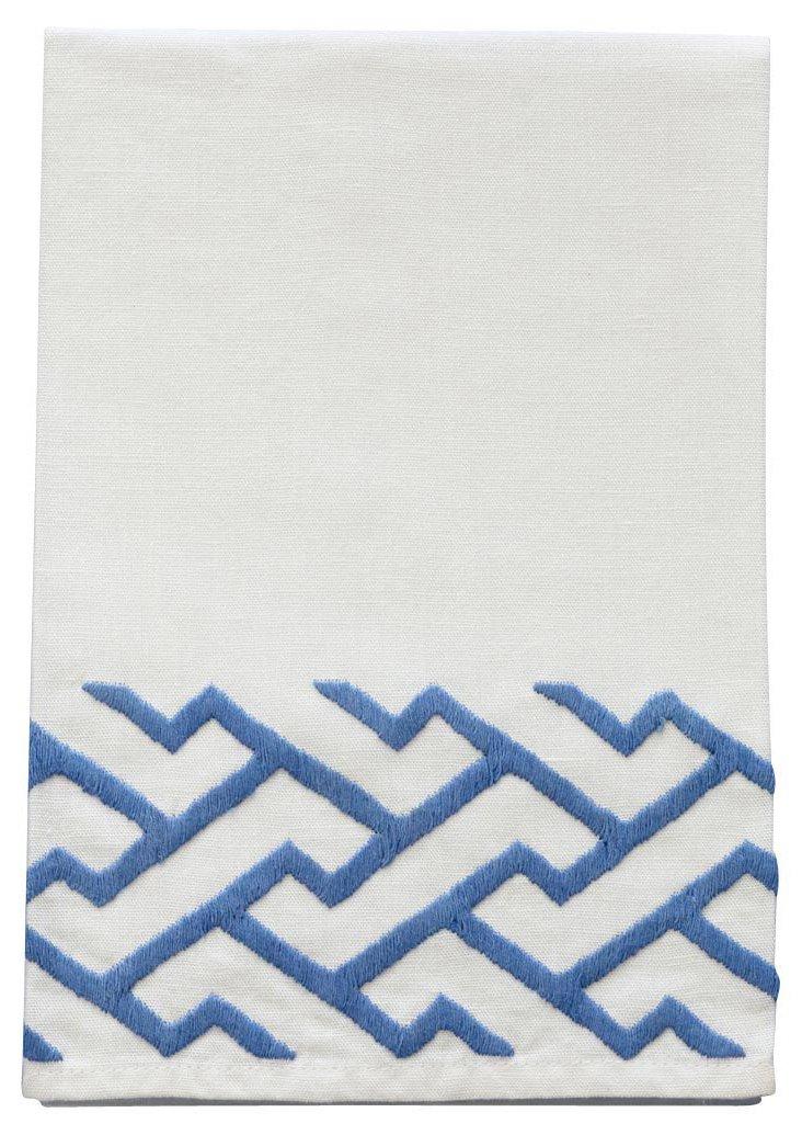 Shanghai Tip Towel,  Blue