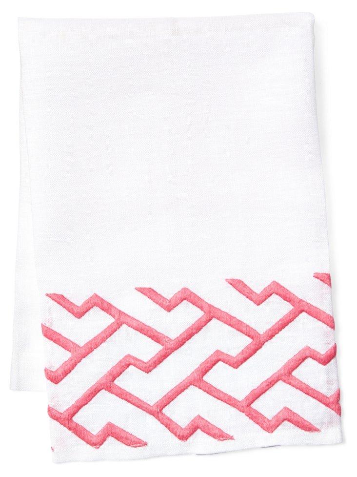 Shanghai Tip Towel, Pink