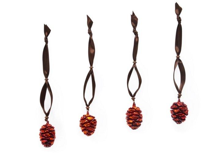 S/4 Sequoia Pinecone Napkin Rings