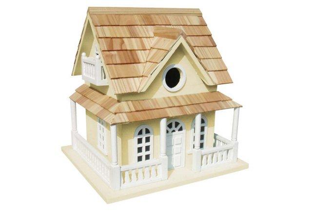 "10.5"" Cape May Birdhouse, Beige"