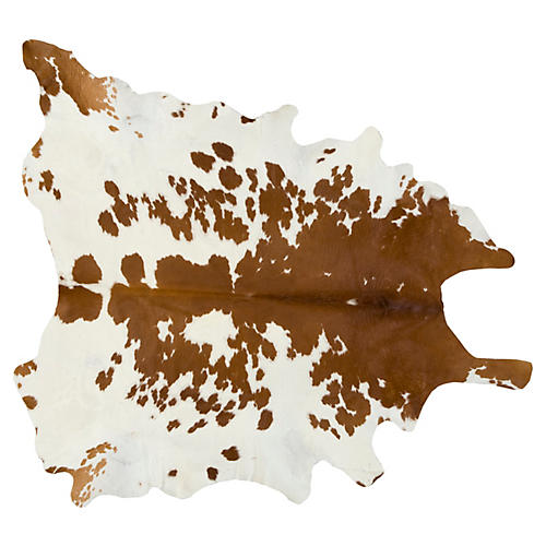 Natural Hide, White/Brown