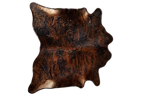 Large Leather Trim Hide, Dark Brindle