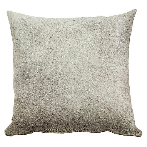 Full-Panel Hide Pillow, Gray