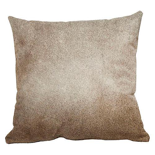 Full-Panel Hide Pillow, Gray/Tan